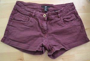 Hotpants Shorts dunkelrot von H&M
