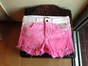 Hotpants Shorts Festival Batik Nieten Studs Hipster Zara TRF 36 rosa Dipdye