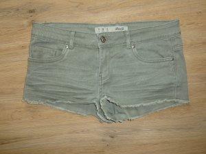 Short moulant gris vert coton