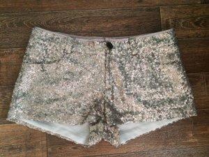Hotpants / Shorts, Silber, Pailletten, Glitzer, Bershka
