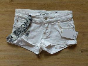 Hotpants Shorts weiß Zara Neu