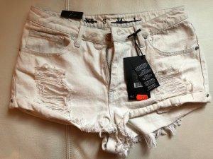 Hotpants weiß Jean