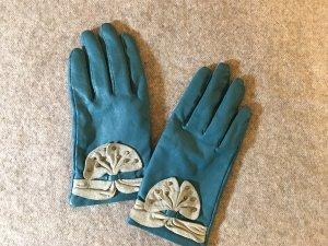Hotwind Türkisblaue Handschuhe aus Ziegennappaleder
