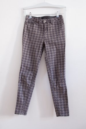 Houndstooth cropped skinny Jeans