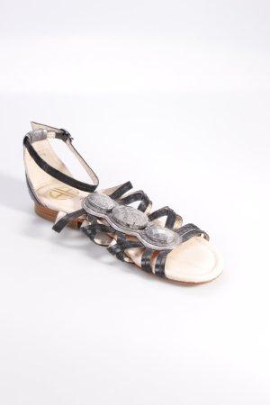 House of Harlow 1960 Riemchen-Sandalen mit Ziersteinen
