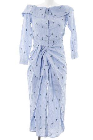 House of harlow 1960 Off-The-Shoulder Dress light blue-white animal pattern
