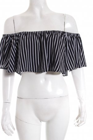 House of harlow 1960 Off the shoulder top zwart-wit