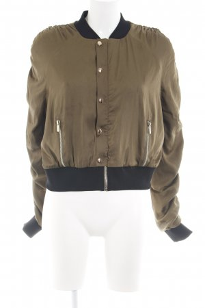 House of London Bomberjacke bronzefarben-schwarz Casual-Look