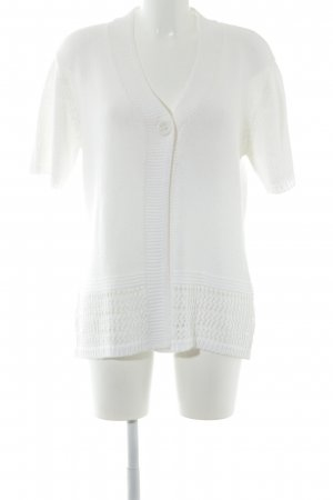 HS Navigazione Short Sleeve Knitted Jacket natural white casual look