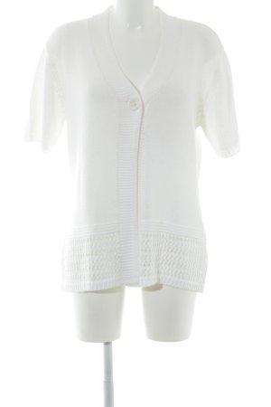 HS Navigazione Cardigan a maniche corte bianco sporco stile casual