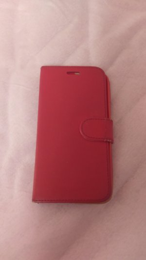 HTC M10 Leder Case red