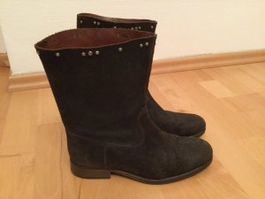 Hollywood Trading Company Botas slouch marrón oscuro-color plata