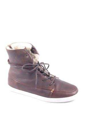 """Hub High Top Sneaker """"VERMONT L WL"""" dunkelbraun"""
