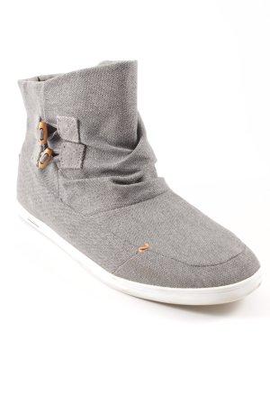 Hub Schlüpf-Stiefeletten grau-weiß Casual-Look