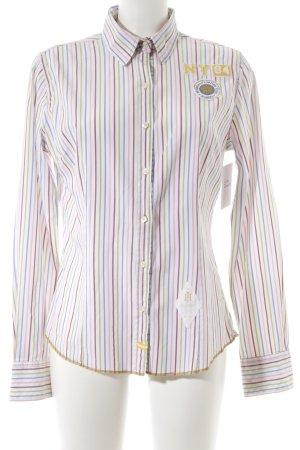 Huberman's Blusa de manga larga estampado a rayas estilo extravagante