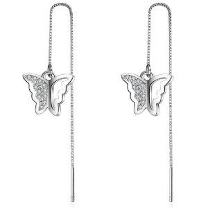 Hubsch und Modisch silber Ohrringe