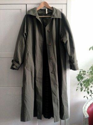 Hucke Vintage Trenchcoat, Schurwolle, Gr. 40