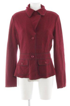Hucke Chaqueta de lana rojo elegante