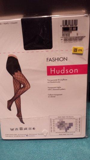 Hudson Desiree Strumpfhosen schwarz Netz Muster blickdicht Gr. M 2 Paar
