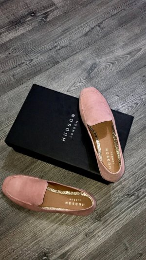 Hudson Slippers apricot suede