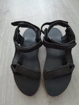 Hudson Shoes Sandale Sandalen Sandalette Leder Trekking Öko