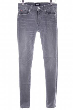 Hudson Slim Jeans grau Washed-Optik