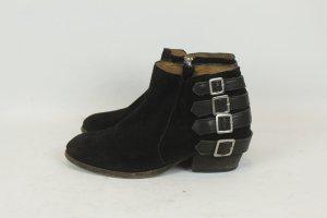 HUDSON Stiefeletten Ankle Boots Gr. 40 Wildleder schwarz