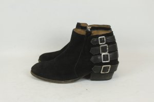 HUDSON Stiefeletten Ankle Boots Gr. 40 Wildleder schwarz (MF/E)