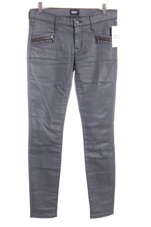 Hudson Stretch Jeans dunkelgrau Biker-Look