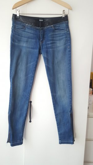 Hudson stretchy jeans with leather waistband, size 26