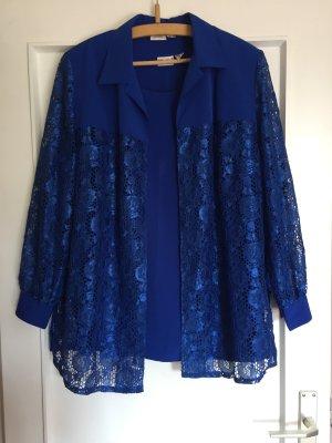 Hübesches Blaues Top mit spitzen Jacke gr. 44