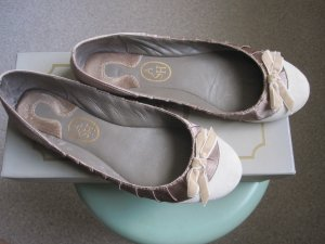 ASH Ballerinas gold-colored-white