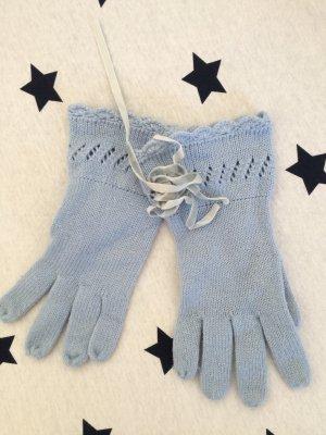 *Hübsche Blaue Handschuhe mit Bändern*