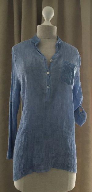 Hübsche Bluse himmelblau - NEU