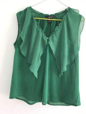 Mango Suit Blusa tipo kimono verde bosque Viscosa
