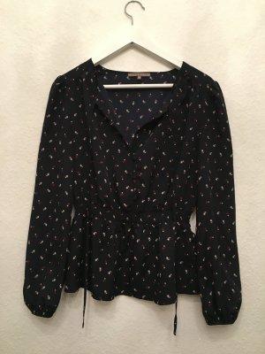 Hübsche Bluse mit feinem Muster und Raffung ♥