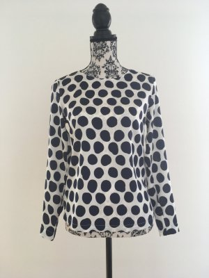 Hübsche Bluse mit Polka Dots glänzend