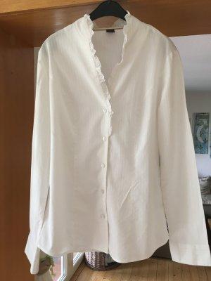 Hübsche Bluse mit Rüschen Kragen Gr. 36