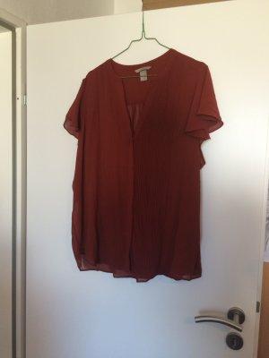 Hübsche Bluse von H&M in angesagtem Rostrot - perfekt für den Herbst!