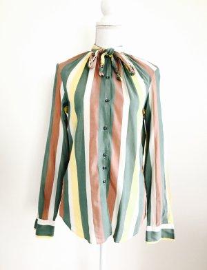 Hübsche Bluse von Mu, gestreift, gr. M, Seide