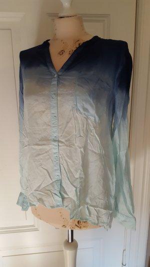 hübsche dip dyed Bluse ombrè Farbverlauf