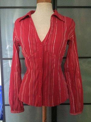 Hübsche gestreifte rote Bluse gr. 36 von Xanaka