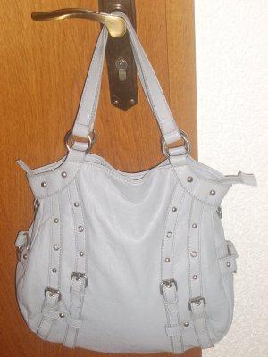 hübsche graue Tasche mit Nieten