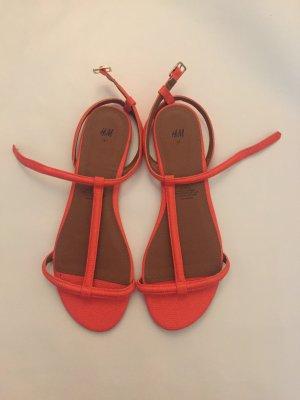 hübsche H&M Sandalen in orange, nie getragen!