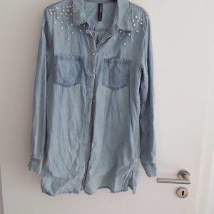 no name Jeans blouse azuur
