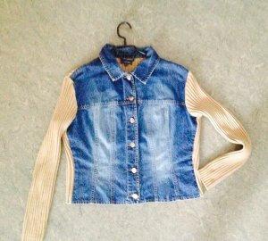 Hübsche Jeansjacke mit Textilrücken von Street One
