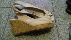 H&M Wedge Sandals cream-nude