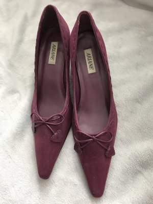 Ariane Pointed Toe Pumps dark violet