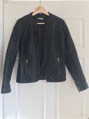 Promod Faux Leather Jacket black