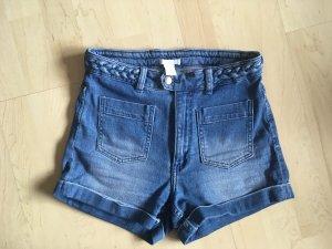 H&M Denim Shorts steel blue